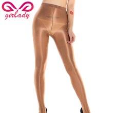ФОТО girlady sexy women shiny pantyhose tights elastic shining glitter 70d tights skinny nylon stockings club dance lady lingerie