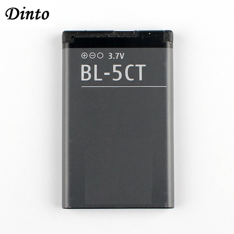 Dinto 1pc 1050mAh Replacement Phone Battery BL-5CT BL5CT Batteries For Nokia 3720 5220 5220XM 6730 6330 6303i C5-02 BL 5CT