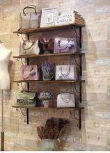 Vintage wall shelves. A display rack for a clothing store8806