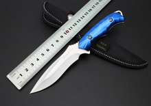 5Cr13Mov Blade Aluminum Handle WOLF TATOO Honor Hunting Tactical Fixed Knife With  Pocket Camping Survival Straight EDC Knives