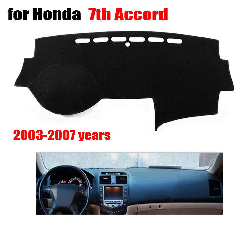 RKAC car dashboard covers For Honda 7th ACCORD 2003 to 2007 left hand drive dash mat covers Auto dashboard protector accessoriesRKAC car dashboard covers For Honda 7th ACCORD 2003 to 2007 left hand drive dash mat covers Auto dashboard protector accessories