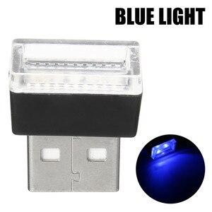 Image 2 - 1 Máy Tính Mini USB Đèn LED Xe Hơi Ô Tô Trang Trí Nội Thất Neon Bầu Không Khí Xung Quanh Đèn Đỏ Tím Trắng Màu Xanh
