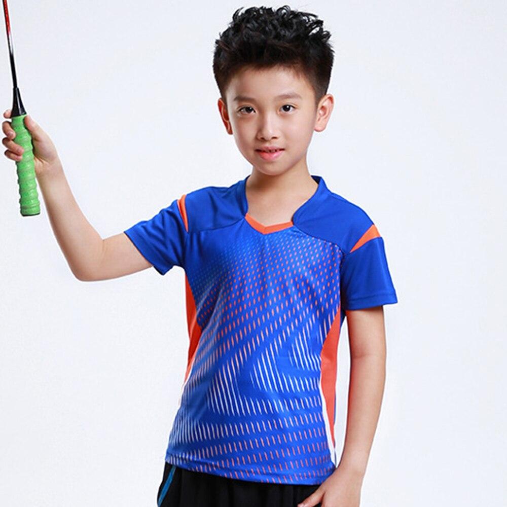 New Quick dry Children Badminton t shirt Boy , Girl sports Tennis tracksuit , kids Badminton t shirt , Child Tennis shirt AF006