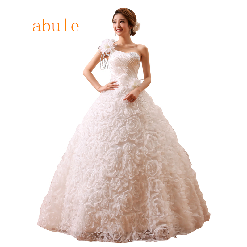 Sales Spring Summer vintage Style vestidos de noiva One Shoulder Designer Wedding Dresses With Sleeves Women Princess Dress