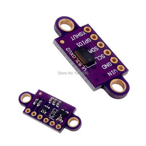 Image 1 - VL53L0X czujnik odległości lasera w czasie lotu moduł breakout dla Arduino VL53L0 VL53L0XV2 przewoźnik z regulatorem napięcia