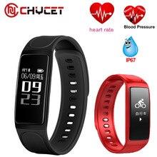 Chycet здоровья динамического сердечного ритма Приборы для измерения артериального давления мониторинг Смарт Браслет Водонепроницаемый IP67 Фитнес трекер Браслет Smart Band