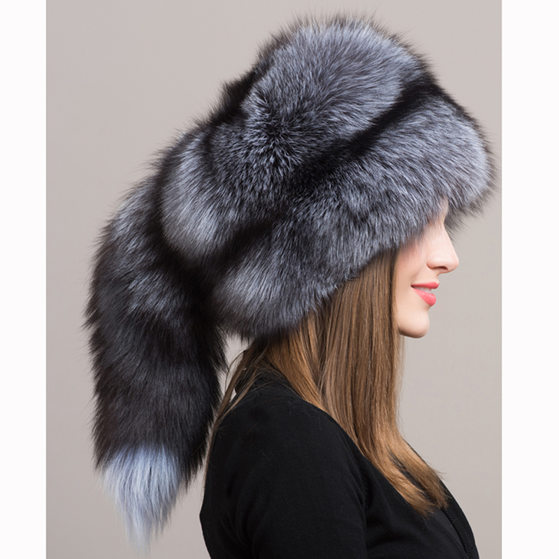 Pieles de animales encanto invierno sombrero femenino Fox Pieles de  animales sombrero ruso Pieles de animales ry mujeres calientes tapa mongol  con Fox ... 39e4d39692b