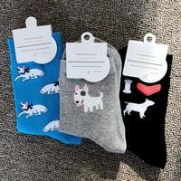 ORIGINAL BULL TERRIER SOCKS gift items for Dog Lovers present idea puppy pup socks novelty