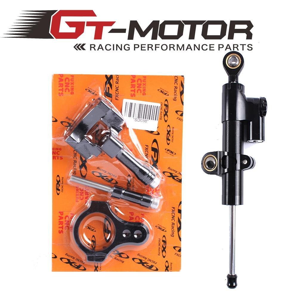 ФОТО GT Motor - CNC Steering Damper Complete Set for YAMAHA YZF-R25/R3 2013-2016