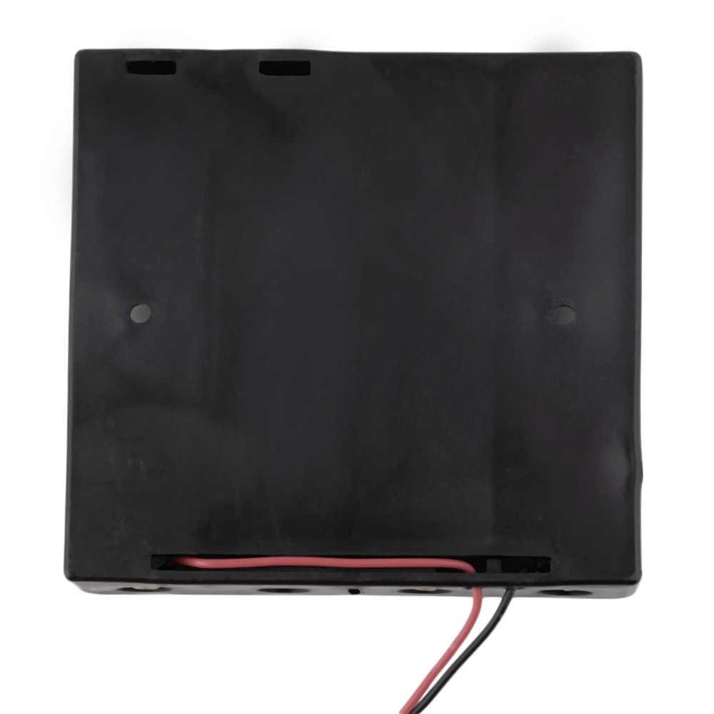 16850 caso da bateria caixa de armazenamento caso suporte plástico para 4x18650 baterias com 6 cabos de fio para solda cnnecting preto novo