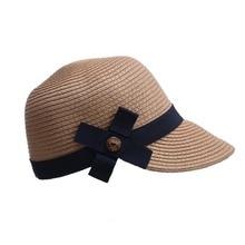 Ecuestre Kentucky Derby sombrero visera Sobrero sol sombreros de las mujeres  grandes ala del sombrero de paja con arco sombrero . e624f70d21e
