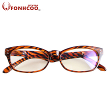 New fashion FONHCOO Leopard unisex glasses Anti Blue ray Radiation protection Computer