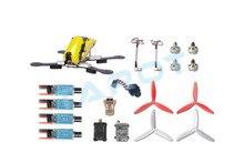 F16517 250 Mediante TL250C Combo Set Marco de Fibra de Carbono FPV Quadcopter Drone con Mini Cámara CC3D ESC Motor Propulsor