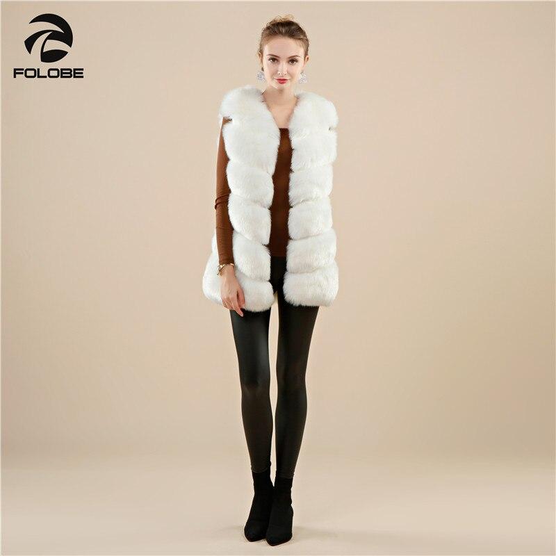 Folobe Fourrures Gilet Mode Casual Luxe Veste D'hiver Femmes De Fourrure Faux Renard Manteau Manteaux Gilets Blanc Chaud OOg5Wrwq