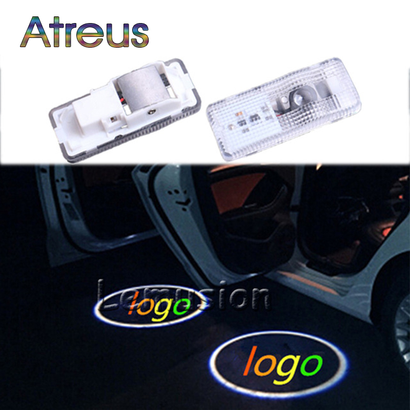Atreus 2X LED Courtesy Lamp Car Door Welcome Light Projector Shadow Styling For Citroen C3 C4 C5 picasso saxo xsara Accessories