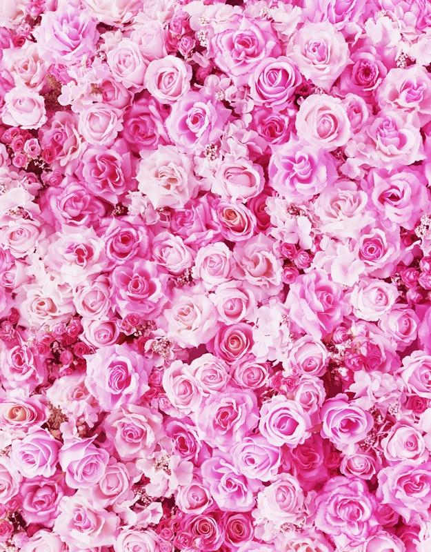 Us 1018 36 Offfantasy Vinyl Cloth Pink Rose Flower Wallpaper Photography Backdrop For Wedding Newborn Kids Photo Studio Portrait Backgrounds In