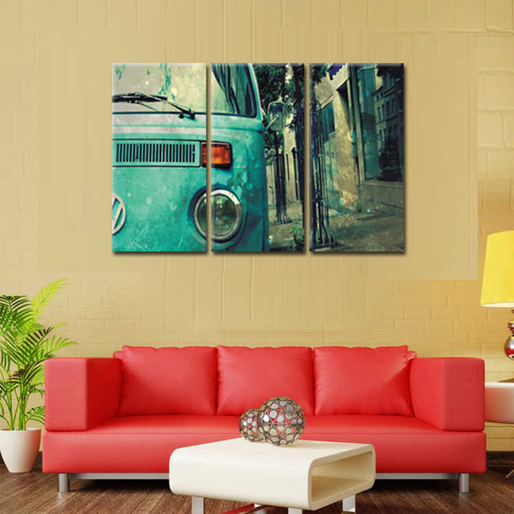 TOP SALE 3 Pcs/Set Artist Canvas Street view car poster Canvas Prints Wall Pictures for Living Room Picture/Abstract (147)