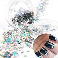 1 UNID 2mm Diamante Lentejuelas Glequins Hojas de Polvo de Uñas Punta de Uñas Glitters Decoraciones Del Arte Del Clavo #7303