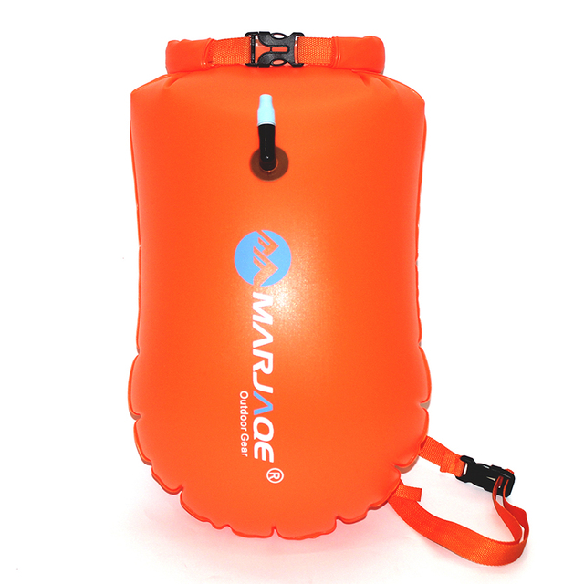 MARJAQE Inflatable floating bag outdoor portable waterproof bag storage swimming bag spot thick PVC 20L