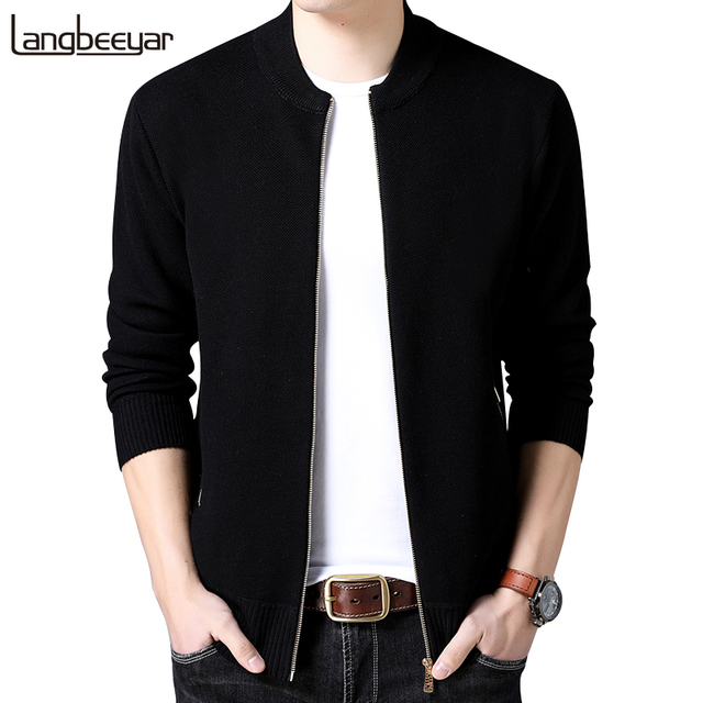 e51ff4c338a 2019 New Fashion Brand-Clothing Jacket Men Casual Mandarin Collar Coat Men  Solid Color Mens Clothes zipper Pockets Men s Jacket