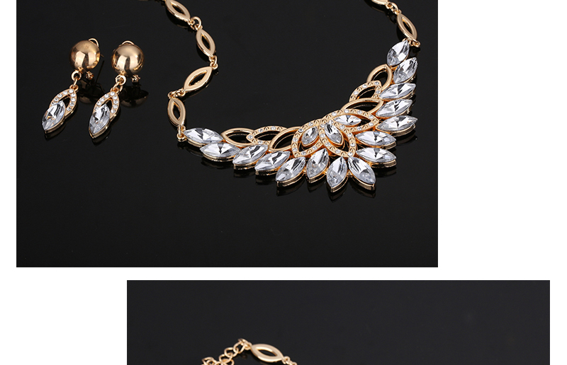 Fashion Jewelry Sets African Costume Wedding Jewellery Sets For Women Vintage Nigerian Beads Necklace Jewelry Set (4)