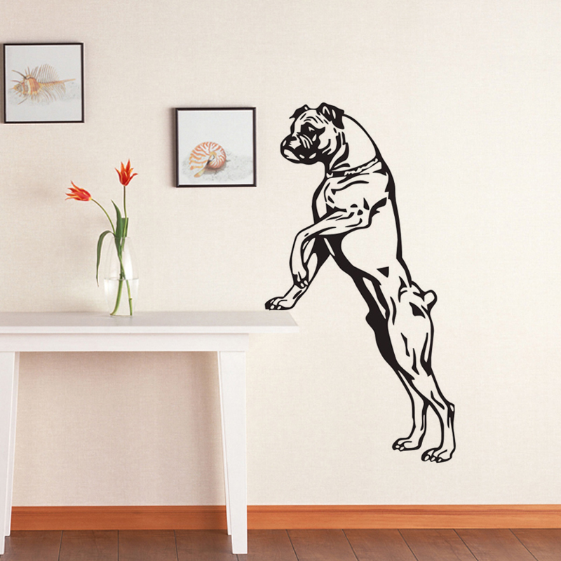 Ehome Large Size Boxer Dog Wall Decals Vinyl Stickers Home