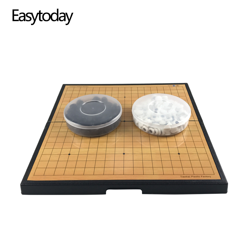 Easytoday Go Game Chess Set High Quality Plastic Folding Board Magnetic pieces Children Entertainment Weiqi
