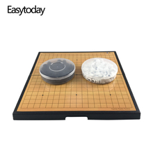 купить Easytoday Go Game Chess Set High Quality Plastic Folding Chess Board Magnetic Chess pieces Children Go Game Entertainment Weiqi по цене 1846.47 рублей
