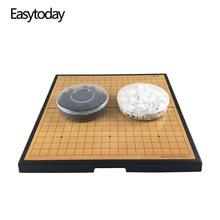 Easytoday – jeu d'échecs pliable en plastique pour enfants, pièces magnétiques, divertissement, haute qualité