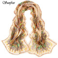 Sunfree 2017 HOT SALE  Women Fashion Pretty Long Soft Chiffon Scarf Wrap Shawl Stole Scarves Hot Brand New High Quality Dec 22