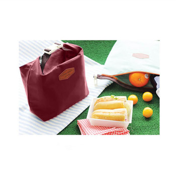 цена на Casual Oxford Cloth Bento Thermal Insulated Cooler Dining Travel Picnic Bag Lunch Pouch Bag Dark Red