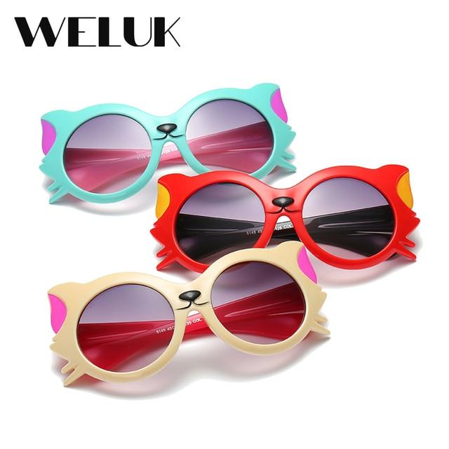 9230a5fb491f WELUK Cute Litter Cat Baby Eye Protection Sunglasses Boys and Girls Shade  Oculos UV400 Outdoor Beach Playing Eyewear Gfas