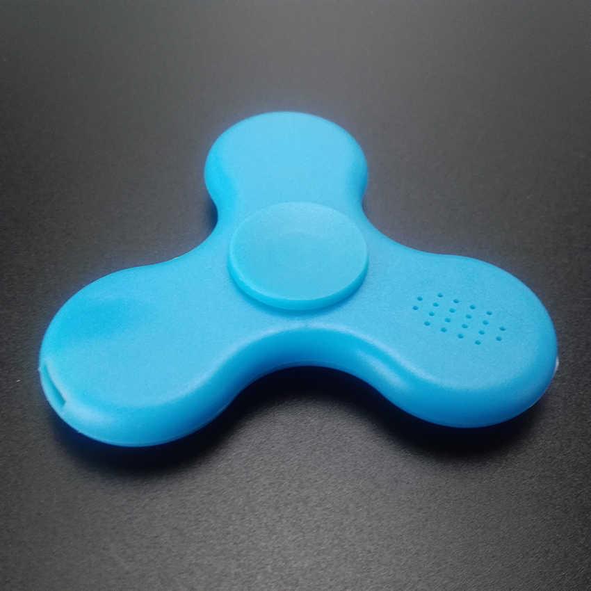 Модный Bluetooth динамик светодиодный Спиннер свет перезаряжаемый снимает стресс руки Пальчиковый музыка Гироскопический на кончик пальца игрушки