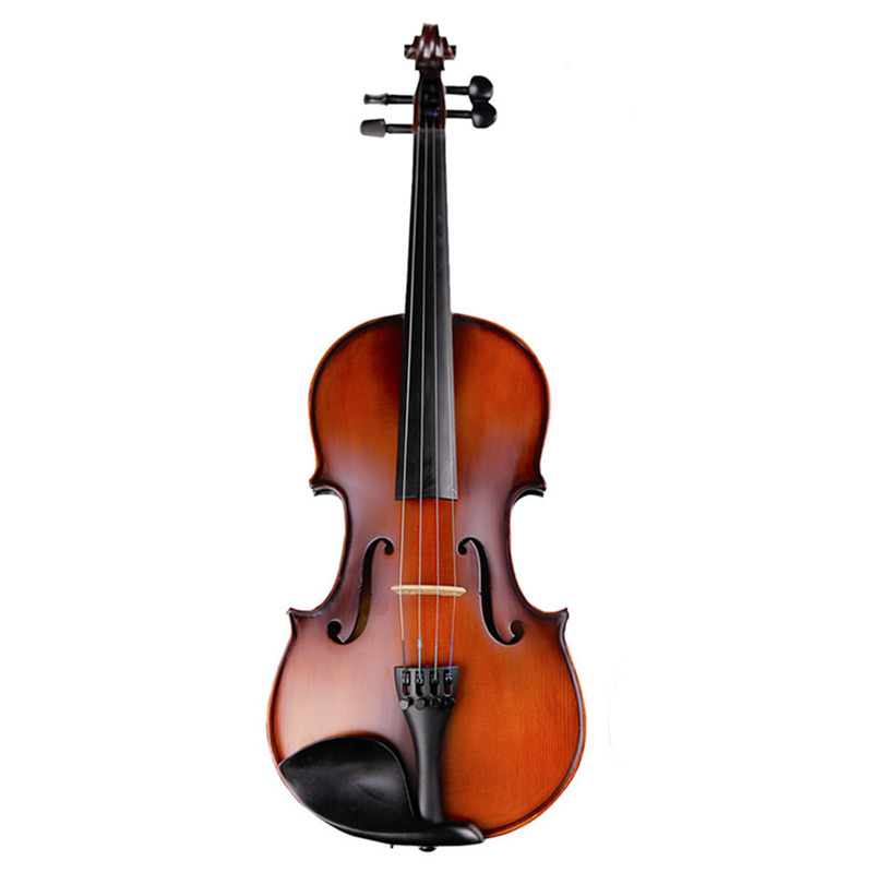 Full Size Musical Instrument Natural Flamed Maple Acoustic Violin 4/4 3/4 1/2 1/4 1/8 Antique Matt Violino with Accessories fir violin 1 8 1 4 1 2 3 4 4 4 violin violino musical instruments