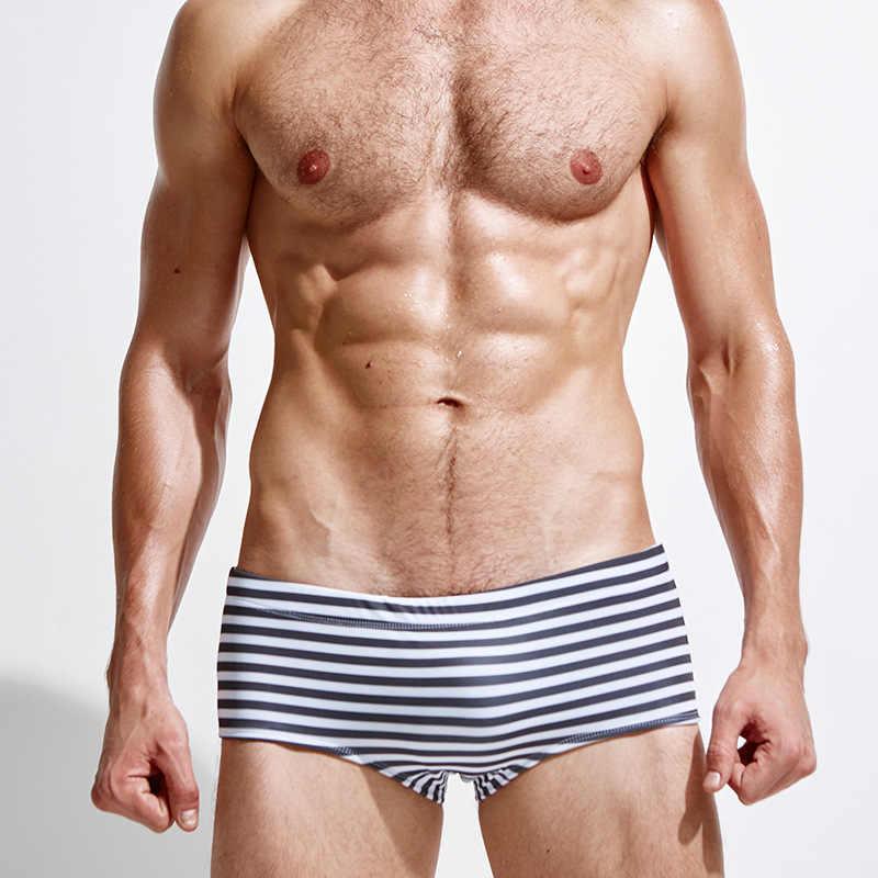 Los hombres de baño trajes de baño Baño Bikini Briefs hombre natación Surf boxeadores troncos Surf brasileño Classi corte pantalones cortos