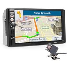 "Autoradio 2 Din Car Radio Multimedia Player+GPS Navigation 7"" HD Touch Screen MP3 MP5 Audio Stereo Bluetooth USB AUX+Camera Map"