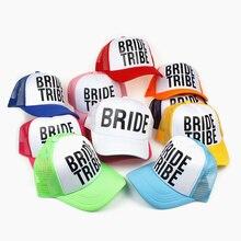 VORON BRIDE TRIBE Print Mesh Women Wedding Baseball Cap Party Hat Bachelor  Club Team 31aa5ad029c