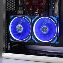 цена на Halo 12cm graphics card side blowing cooling fan, CPU, computer chassis radiator, PCI bit installation,2 fan / 3 fan combination