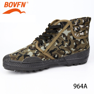 Image 3 - Military Camouflage Wear resistant Rubber Shoes Worker Farmland Garden Industrial Boots Non Slip Mountain Climbing Man