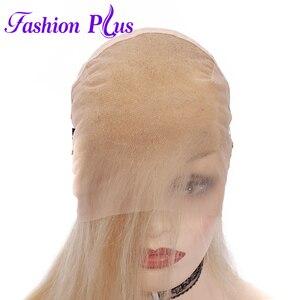Image 4 - Tam sırma insan saçı Peruk Ön Koparıp 613 sarışın Brezilyalı Remy Saç Peruk kadın peruk Peruk 14 24 Olabilir özelleştirilmiş