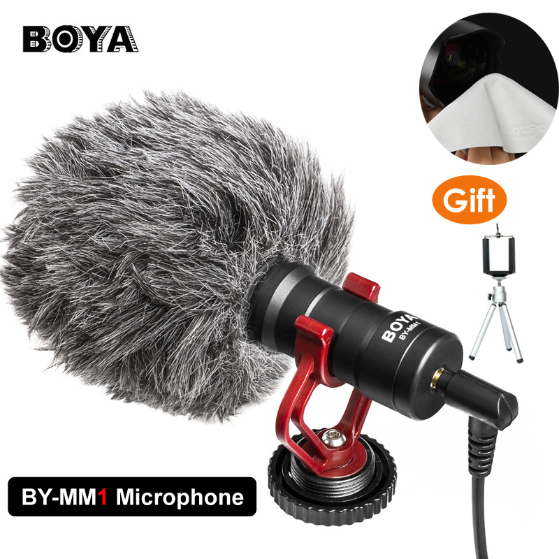 $39.95 BOYA BY-MM1 Compact On-Camera Video Microphone Youtube Vlogging Recording Mic for iPhone HuaWei Smartphone DJI Osmo Canon DSLR