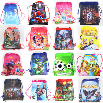 1pcs Non-woven Fabrics Kid Favor Travel Pouch Storage Clothes Shoes Bags Cotton Drawstring Bags School Portable Backpack