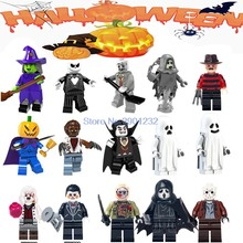For Halloween Figures Theme Movie Hockey Guy Hockey Mask Hunter-Black Friday Jason Scream Killer Jack building blocks Toys(China)