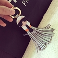 karl face tassel accessories bag bug charm   best design for  Mujer bag key chain  For Car Ornaments Genuine leather