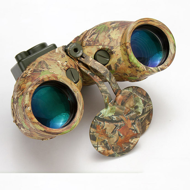 Image 1 - Wide Angle 7X50 HD Binoculars Telescope Military night vision navigation ranging compass telescope-in Monocular/Binoculars from Sports & Entertainment