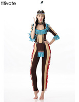 Native American Tribe Indian Princess Women Costume Adult Carnival Fancy Dress Halloween Cosplay Cleopatra Greek Goddess