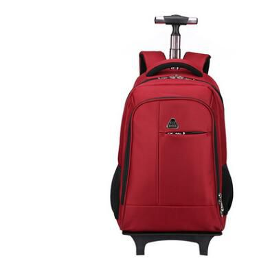 ผู้หญิงเป้เดินทางที่มีล้อผู้ชายธุรกิจรถเข็นกระเป๋าเดินทางรถเข็นกระเป๋าMochilaฟอร์ดกลิ้งสัมภาระกระเป๋าเป้สะพายหลังกระเป๋า-ใน กระเป๋าเดินทาง จาก สัมภาระและกระเป๋า บน   2