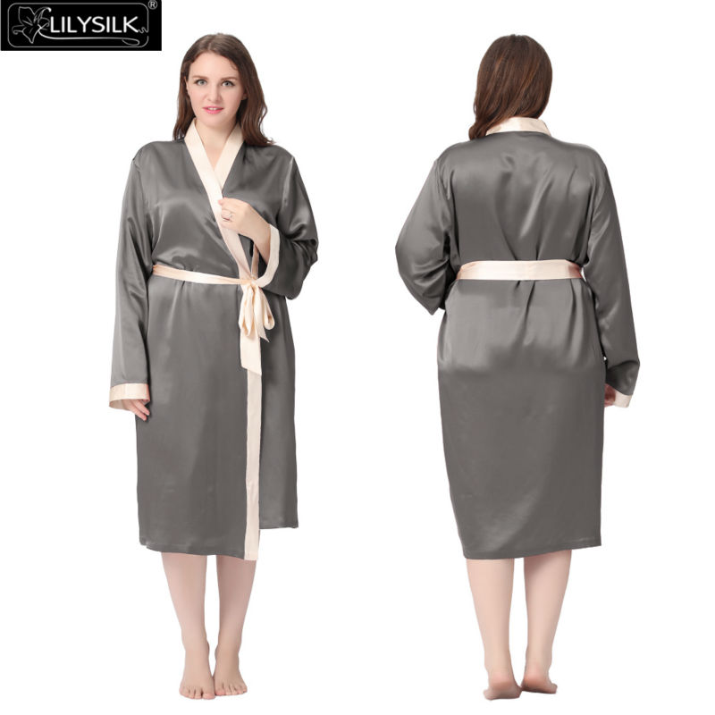 1000-dark-gray-22-momme-reverse-trim-mid-length-silk-robe-plus-size-01