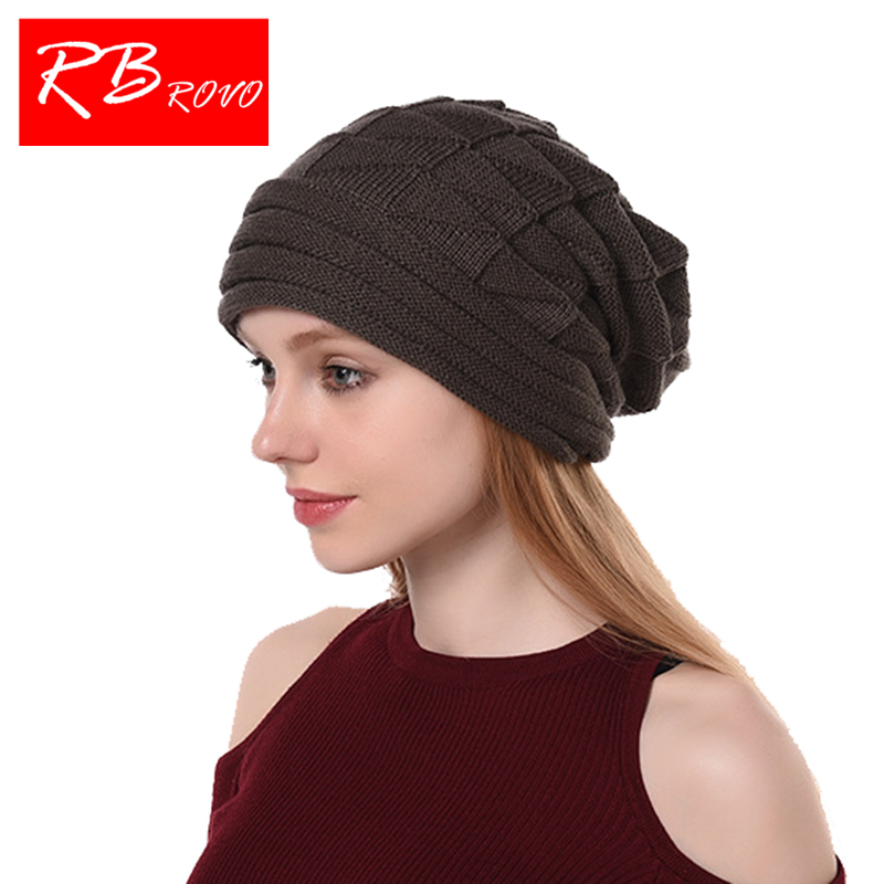 c76dbb3c629 Winter Warm Hat Women Hats Thick Knitted Winter Beanies Solid Scarf Cap For  Female Fashion Beanies