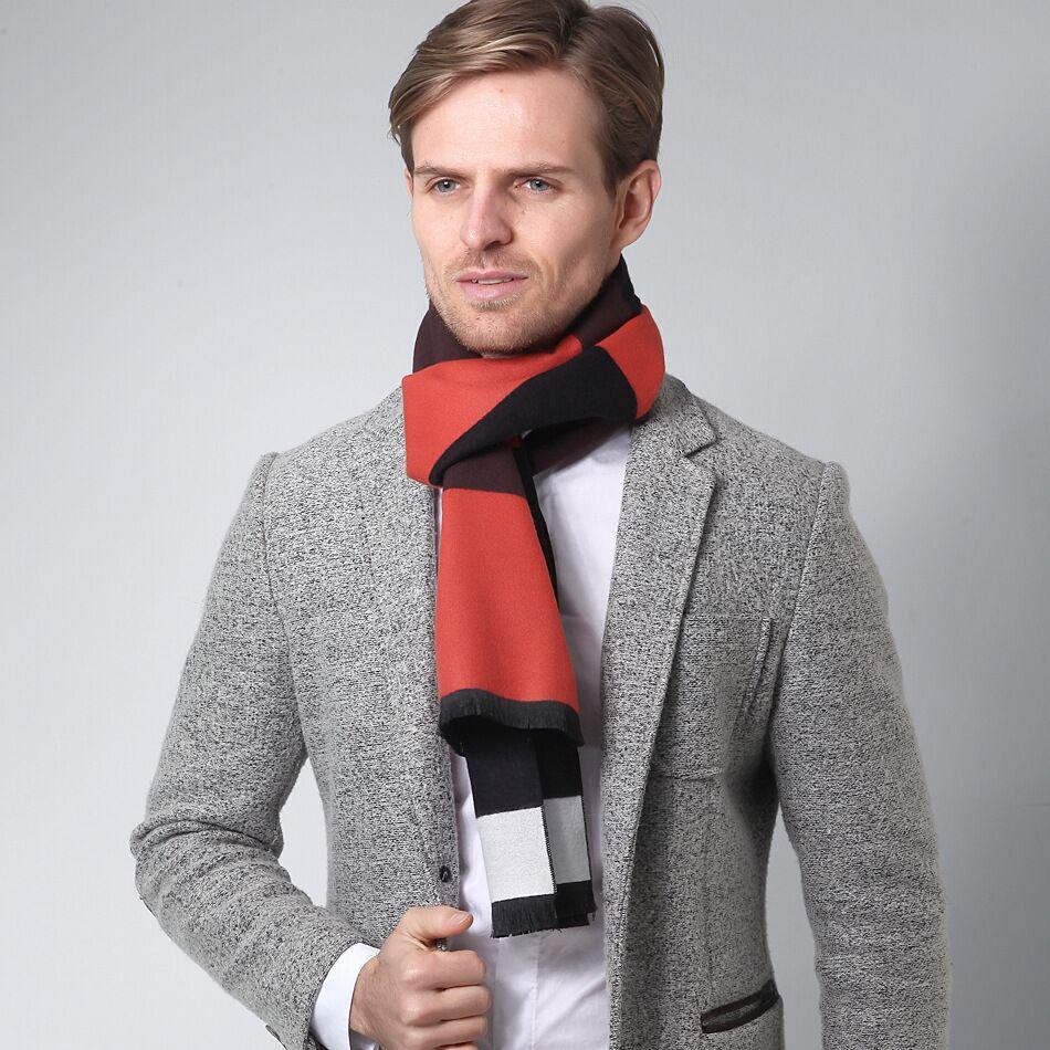 Newest Scarf Luxury Brand Designer Men Classic Winter Scarf Warm Soft Tassel Ethnic Shawl Wrap Sick Scarf Men Scarves cachecol